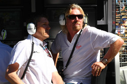 Nick Fry, Brawn GP, Chief Executive Officer and Sir Richard Branson CEO of the Virgin Group
