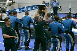 The Piquet Sports team celebrate Diego Nunes victory