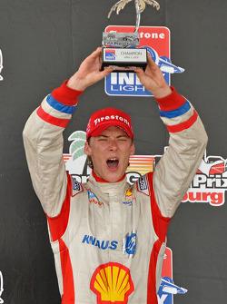 Podium: race winner Junior Strous