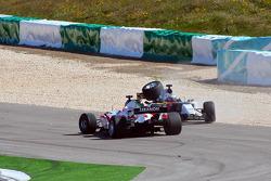 Daniel Morad;Andre Lotterer, driver of A1 Team Germany crashed