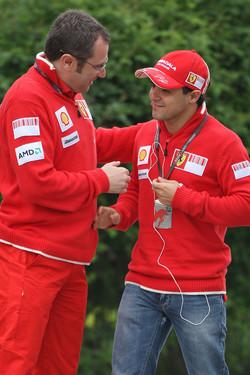 Stefano Domenicali, Scuderia Ferrari, Sporting Director, Felipe Massa, Scuderia Ferrari
