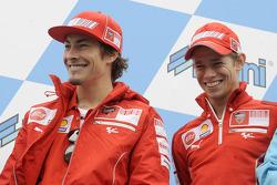 Nicky Hayden, Ducati Marlboro Team and Casey Stoner, Ducati Marlboro Team