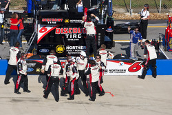 Roush Racing crew members celebrate the win of David Ragan