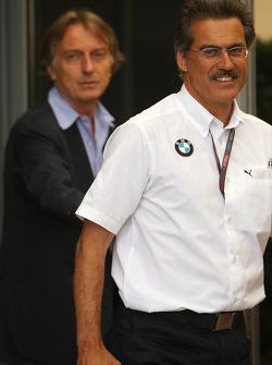 Luca di Montezemolo, Scuderia Ferrari, FIAT Chairman and President of Ferrari and Dr. Mario Theissen, BMW Sauber F1 Team, BMW Motorsport Director