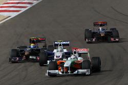 Adrian Sutil, Force India F1 Team and Nick Heidfeld, BMW Sauber F1 Team