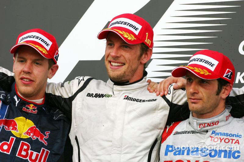 2009: Jenson Button, Sebastian Vettel, Jarno Trulli