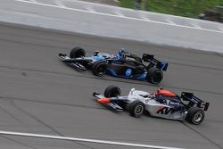 Danica Patrick, Andretti Green Racing and Mario Moraes, KV Racing Techology run together