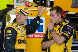 Matt Kenseth, Roush Fenway Racing Ford, talks with Drew Blickensderfer