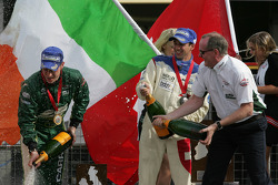 Adam Carroll, driver of A1 Team Ireland with Neel Jani, driver of A1 Team Switzerland and Mark Gallagher