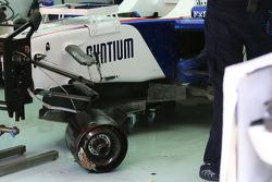 Car of Nick Heidfeld, BMW Sauber F1 Team after crashing