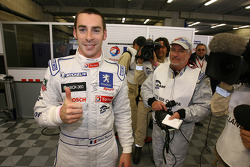 Pole winner Simon Pagenaud celebrates