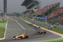 Restart: Nelson A. Piquet, Renault F1 Team