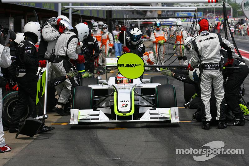 Rubens Barrichello, Brawn GP pit stop