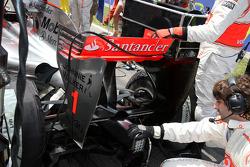 The rear wing of Lewis Hamilton, McLaren Mercedes