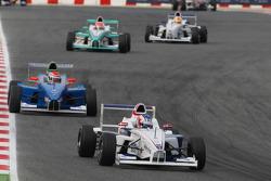 Michael Christensen, Muecke Motorsport leads Luiz Felipe Nasr, Eurointernational