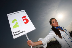 Grid girl of Kevin Gilardoni, Fisichella Motor Sport International SPA