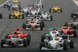Start, Robin Frijns, Josef Kaufmann Racing
