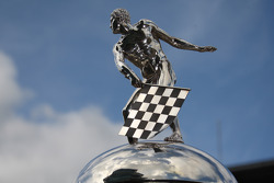 Detail of the Borg Warner Trophy
