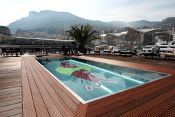 The swimming pool on the Red Bull Energy station