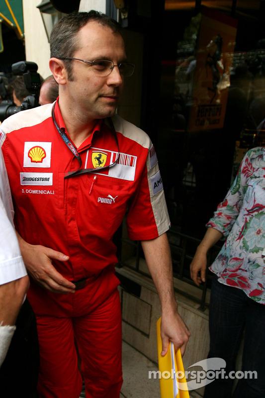 Stefano Domenicali, teambaas Scuderia Ferrari