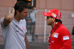 Pedro de la Rosa, Test Driver, McLaren Mercedes with Felipe Massa, Scuderia Ferrari