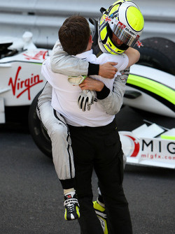 Jenson Button, Brawn GP, wins the race, Nick Fry, BrawnGP, Chief Executive Officer