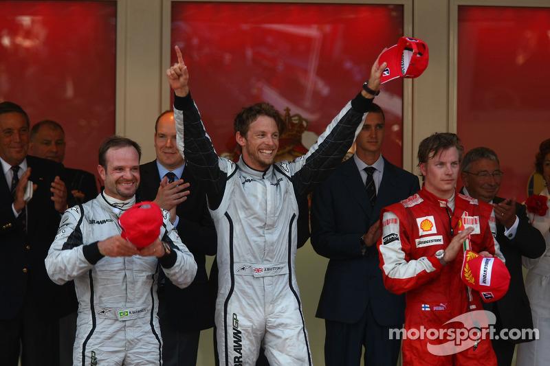 2009: 1. Jenson Button, 2. Rubens Barrichello, 3. Kimi Räikkönen