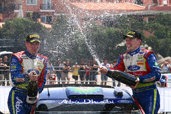 Podium: race winners Jari-Matta Latvala and Miikka Anttila celebrate
