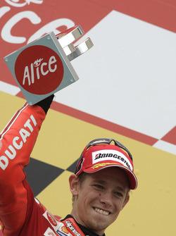 Podium: race winner Casey Stoner
