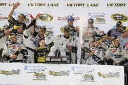 Victory lane: Jimmie Johnson celebrates