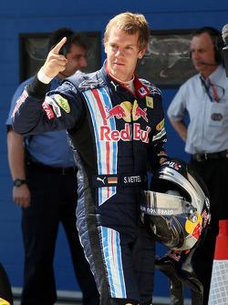 Sebastian Vettel, Red Bull Racing on pole