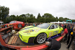 Risi Competizione Ferrari F430 GT arrives at scrutineering