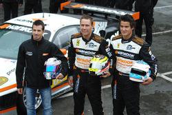 Christian Montanari, Dominik Farnbacher and Allan Simonsen
