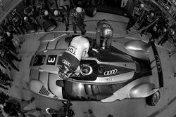 Pit stop for #3 Audi Sport North America Audi R15 TDI: Alexandre Prémat, Romain Dumas, Timo Bernhard