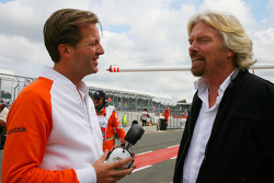 Michael Mol, Force India F1 Team and Sir Richard Branson, Chairman of the Virgin Group