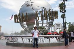 Toni Elias, San Carlo Honda Gresini, visits Universal Studios