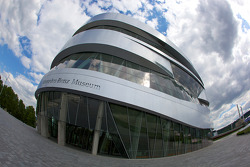 Outside the Mercedes-Benz Museum