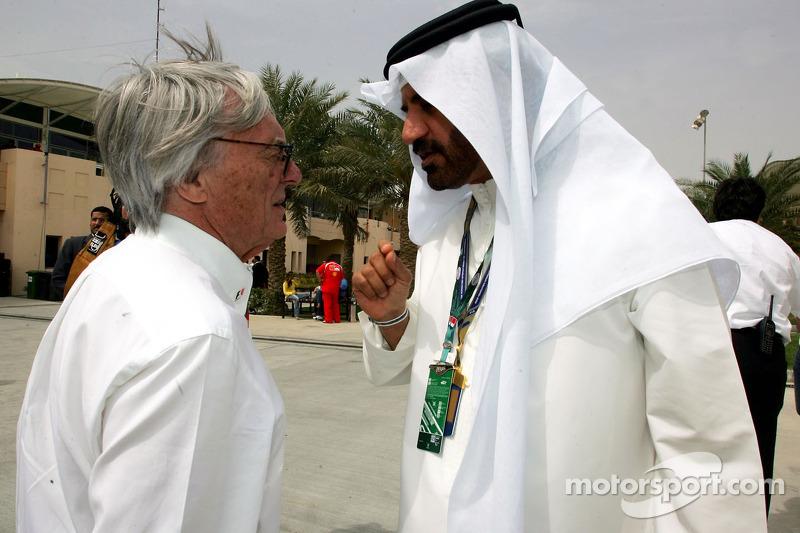 Mohamed Ben Sulayem, FIA, en Bernie Ecclestone