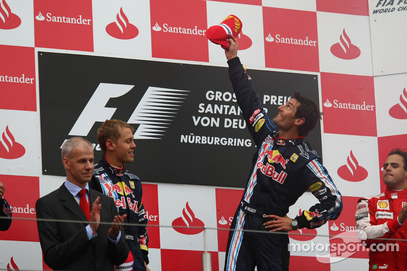 Podium: 1. Mark Webber, Red Bull Racing; 2. Sebastian Vettel, Red Bull Racing; 3. Felipe Massa, Ferrari