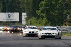 Pace laps: #90 BMW Rahal Letterman Racing Team BMW E92 M3: Bill Auberlen, Joey Hand