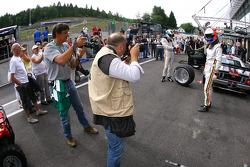 Pit stop practice for #40 Marc VDS Racing Team Ford GT: Eric de Doncker, Bas Leinders, Renaud Kuppens