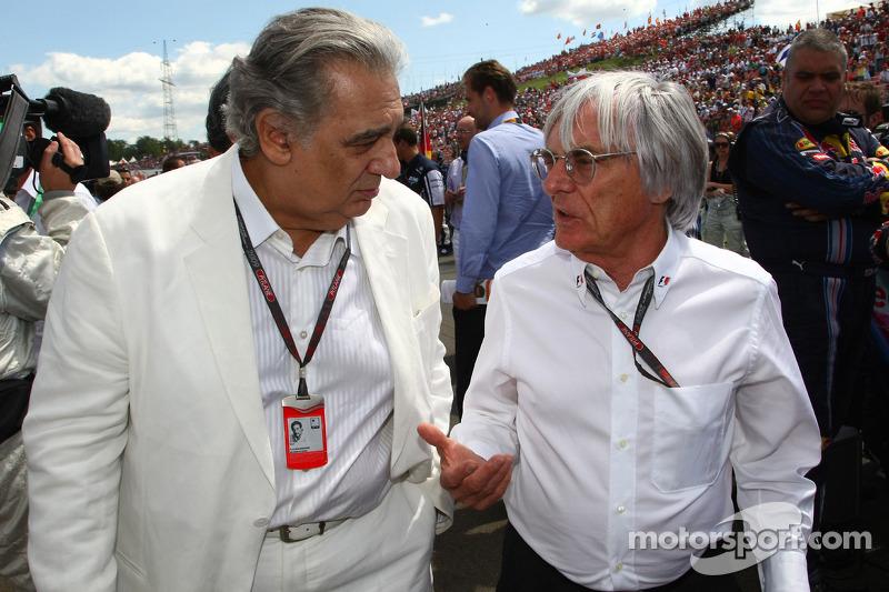 Placido Domingo en Bernie Ecclestone