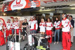 Pramac Racing team members watch the race