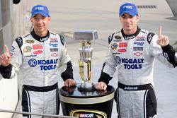 Victory lane: race winner Jimmie Johnson, Hendrick Motorsports Chevrolet with crew chief Chad Knaus