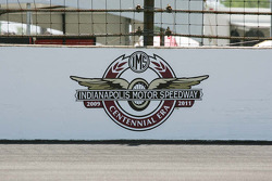 Centennial Era Logo on the wall of the south short chute at the Indianapolis Motor Speedway