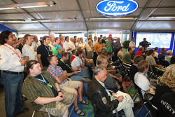 A packed press conference where Ian Slater, Vice President of Communications and Public Affairs, Ford of Europe announced a new two-year agreement with M-Sport which sees Ford stay in the WRC for 2010 and 2011