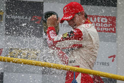 Podium: race winner Jules Bianchi, ART Grand Prix Dallara F308 Mercedes