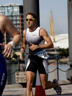 Jenson Button, Brawn GP during the London triathlon