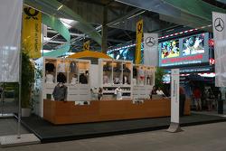 Mercedes-Benz fan shop in the fan zone boulevard, part of the new Ring Werk