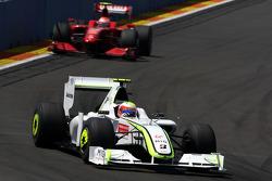 Rubens Barrichello, BrawnGP, Kimi Raikkonen, Scuderia Ferrari